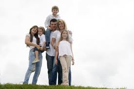 american Family on hill